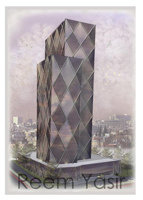 تصميم واظهار مشروع مقترح لبرج متعدد الاستخدام