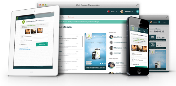 Chat & Web Phone Responsive Layout