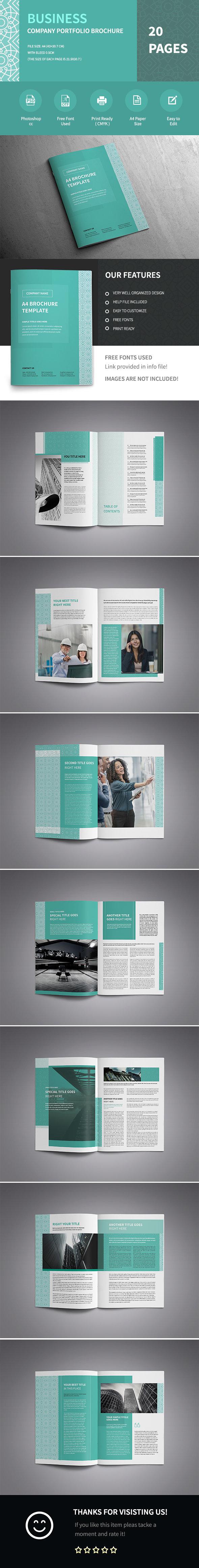 Modern A4 Corporate Business Brochure Template