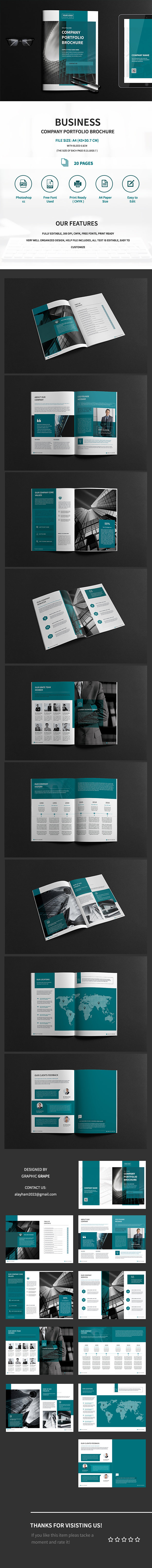 A4 Business Company Portfolio Brochure