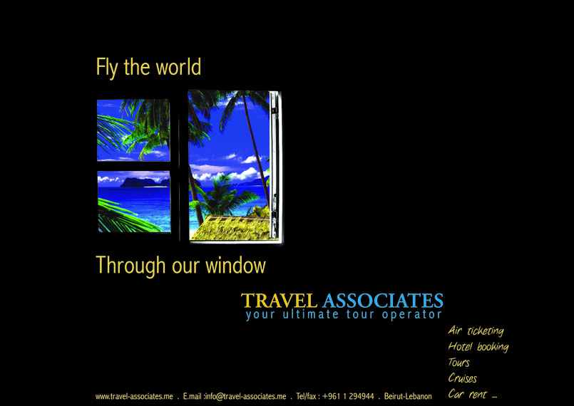 press ad for a travel agency