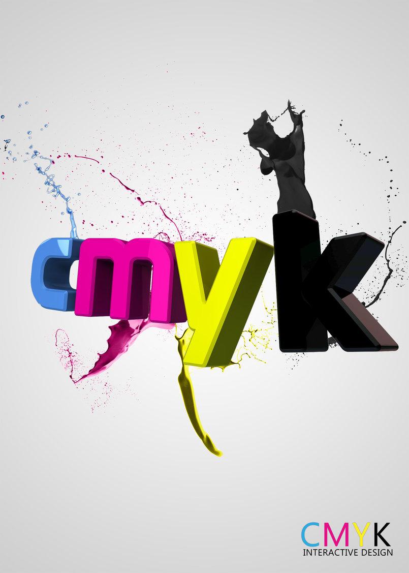 CMYK Drops Of Paints
