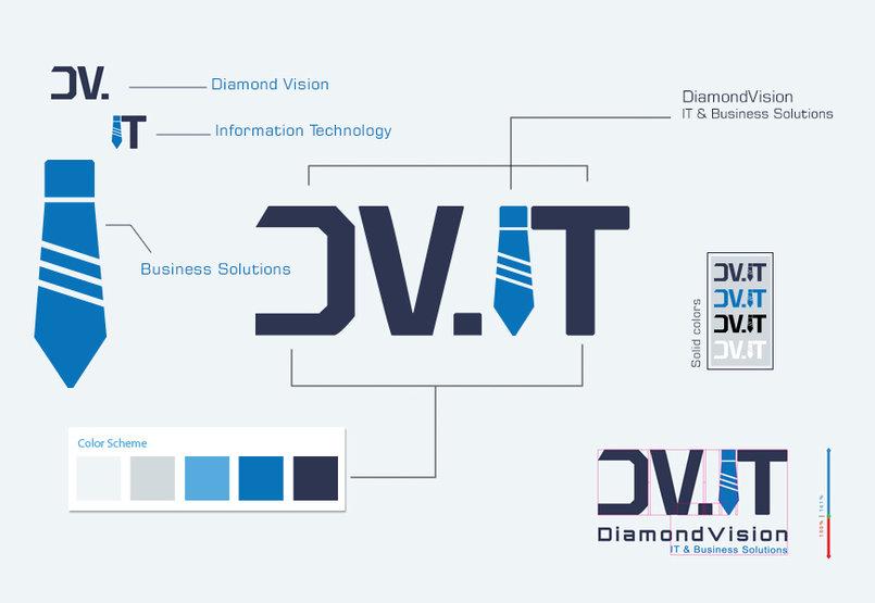 تصميم هوية بصرية لصالح شركة DiamondVision