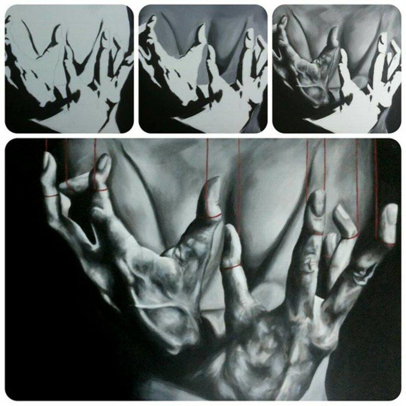 acrylic on canvas acrylic on canvas من المجموعة التى عرضت في معرض زارا عمان-الاردن في 2014