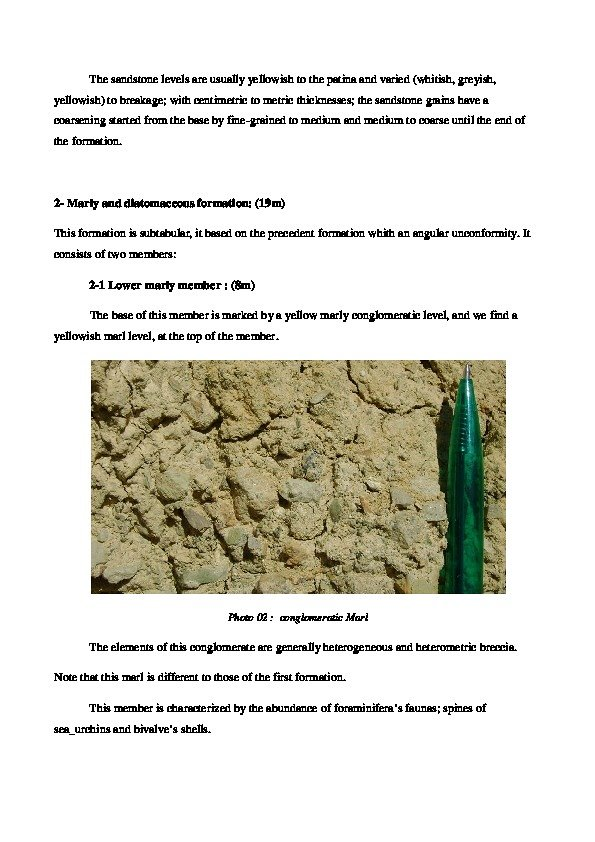 Example of the Alpine sedimentation in Algeria
