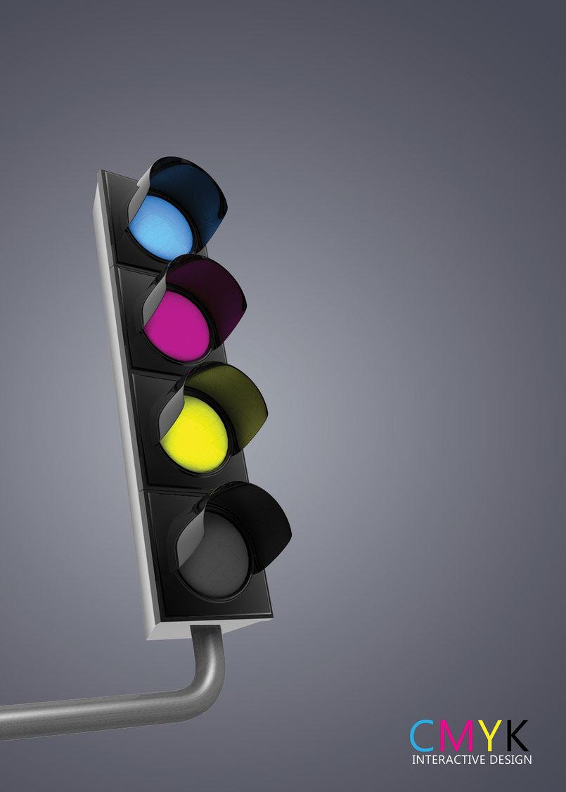 CMYK Traffic Light