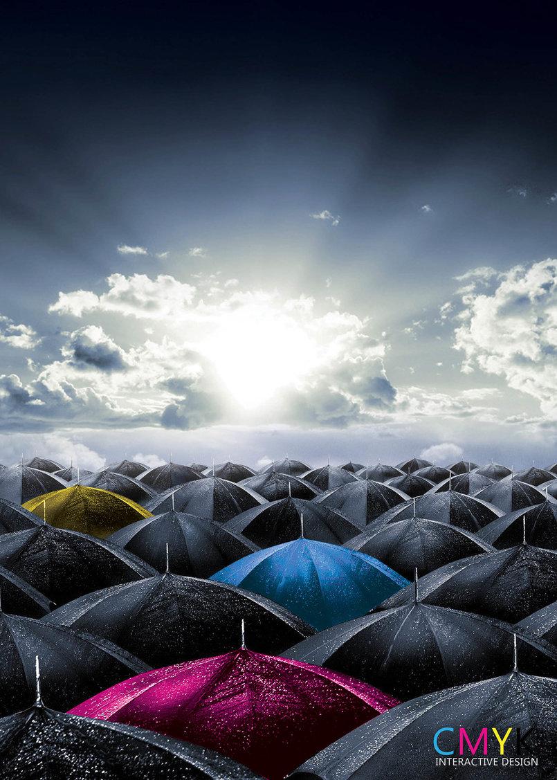 CMYK Umbrellas