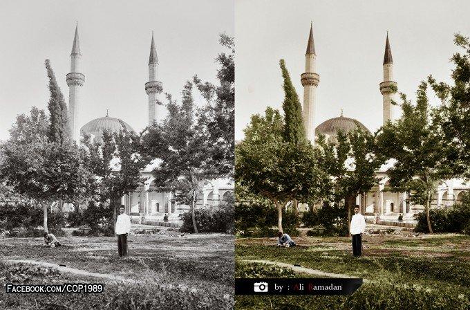 مسجد السلطان سليمان ( التكية السليمانية ) دمشق 1900 - 1920