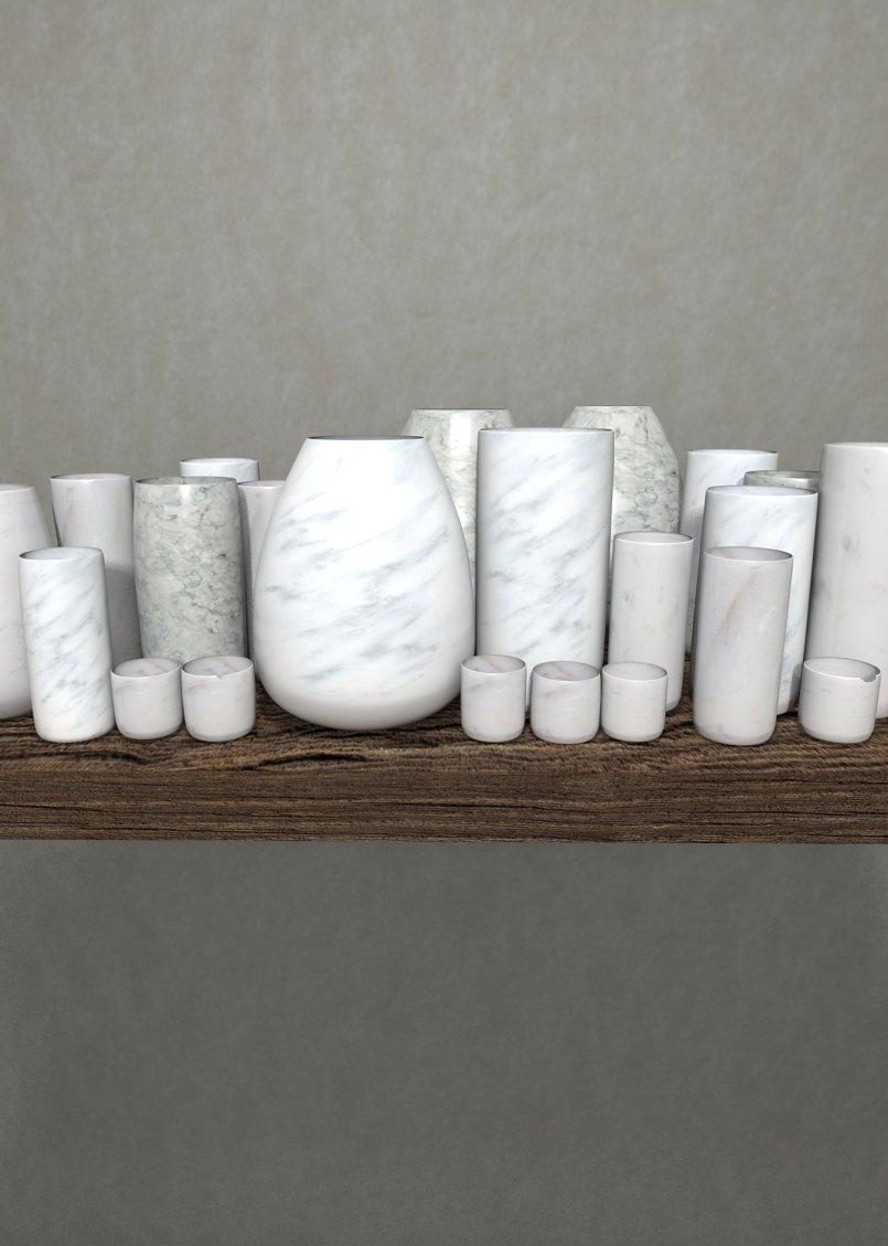 3D marble jars