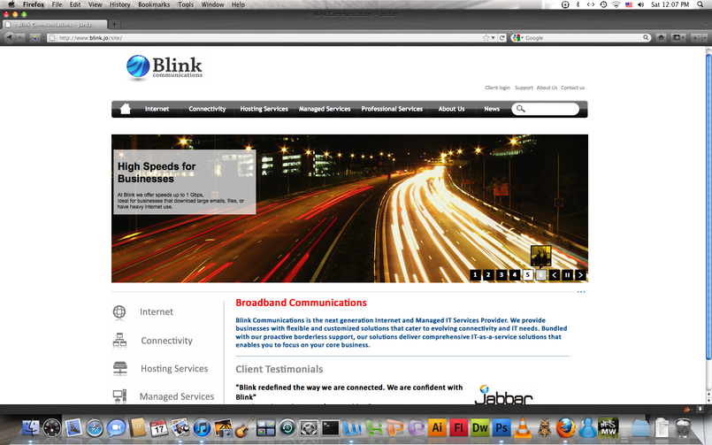 Blink Communications Website