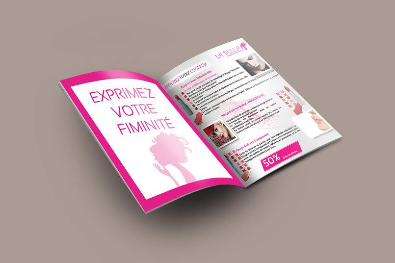 تصميم الصفحة 1 و 2 من الكاتالوغ