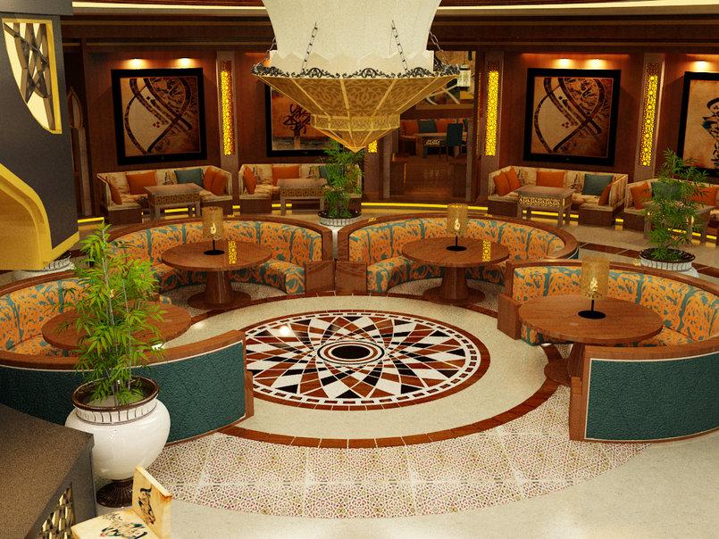 Modern islamic restaurant proposal من تصميم salma taleb