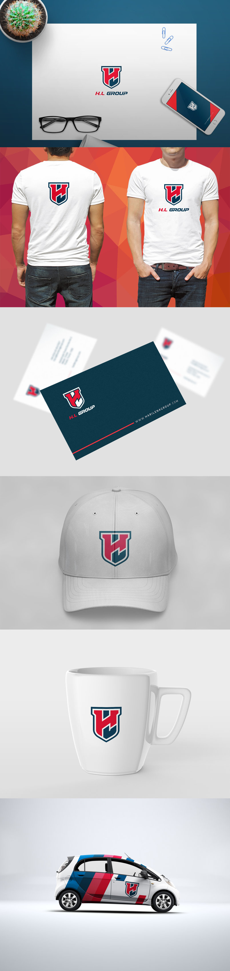 H.L Group Brand identity design