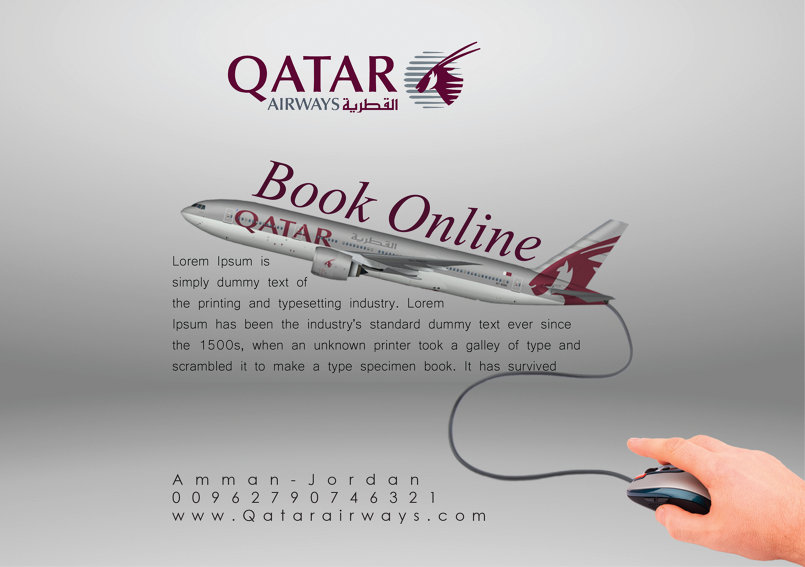 Advertisement For Qatar Airwyas company