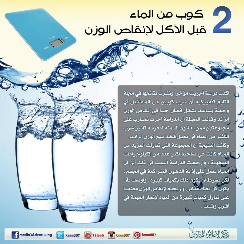 رسائل توجيهية - فوائد شرب الماء .