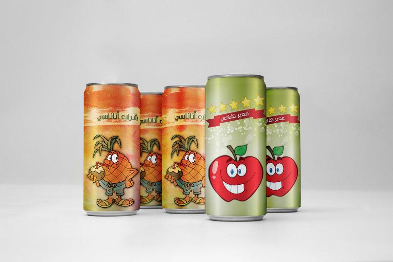عدد من عبوات - مشروب التفاح، مشروب الأناناس