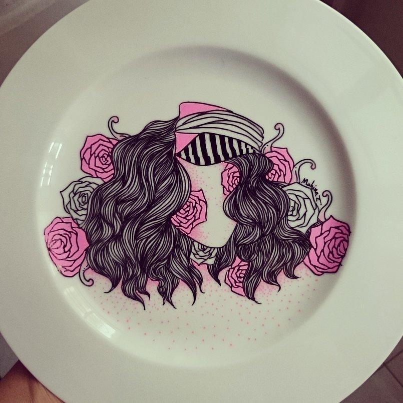 Art on plates