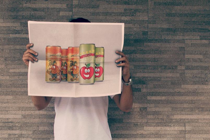 الإعلان عن المشروبات في واحدة من نشرات الصحف اليومية