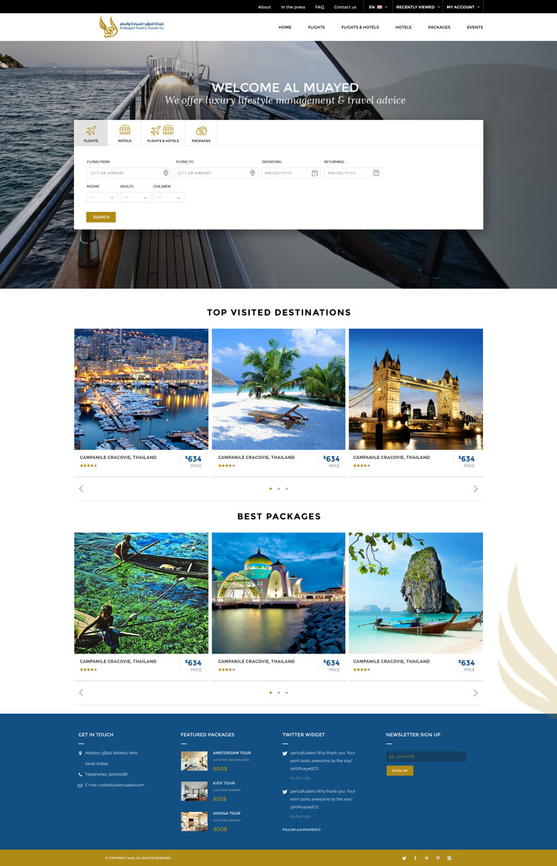 Al Muayed Booking Website