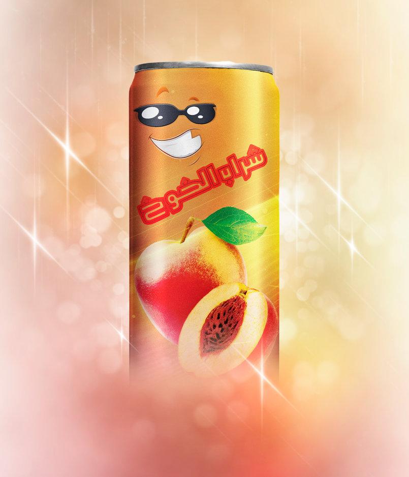 شراب الخوخ - إعداد التأثيرات عليه قبل نشره في إحدى النشرات الترويجية
