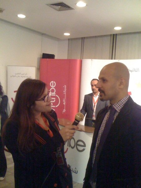 While Interviewing Mazz Jobrani