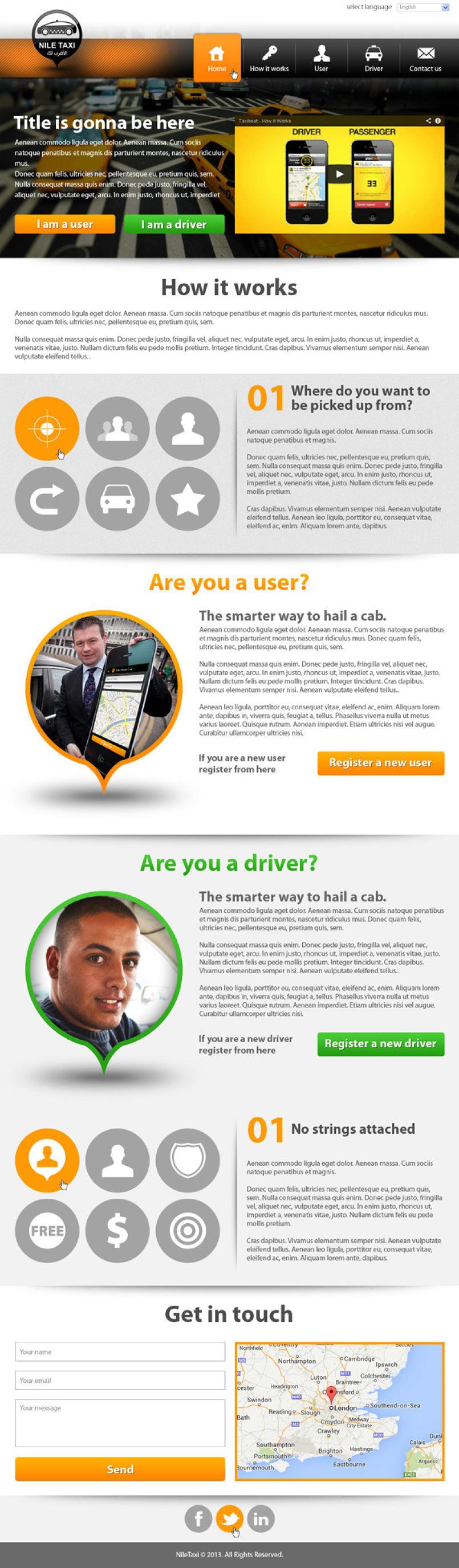 Nile Taxi Website