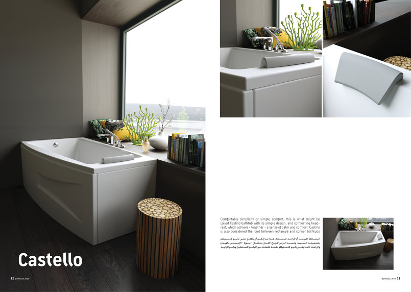 spread Castello bathtub Cinema 4D + C4dtoa