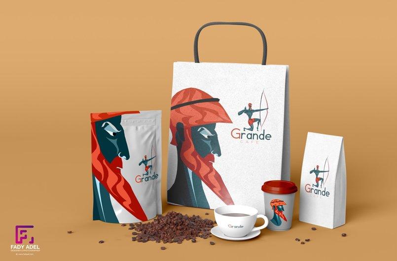 تصميم لمتجر قهوة