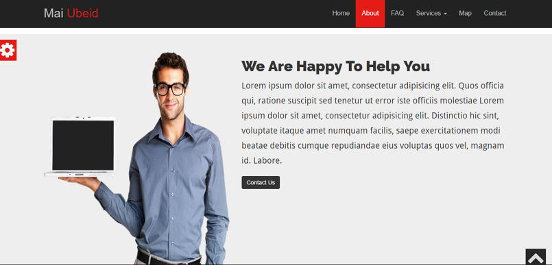 Website design with html5