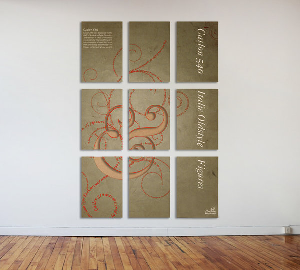 Caslon (Typo Mural poster)