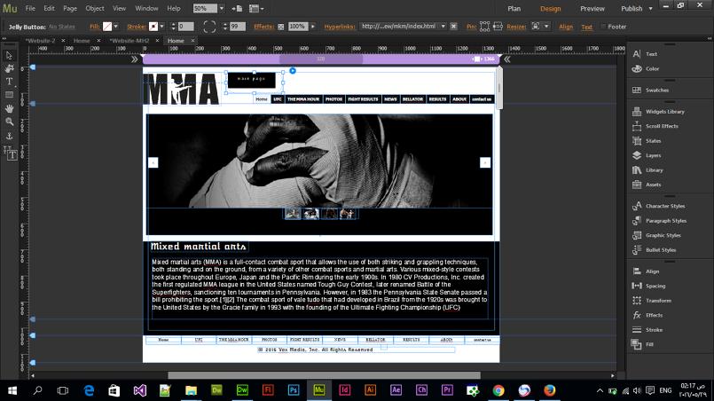 M M A web site