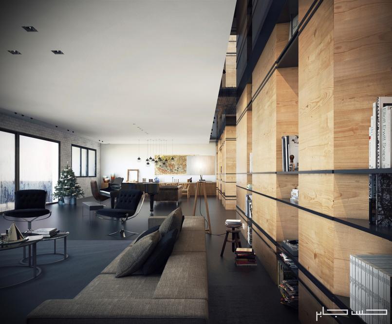 Living Room in winter