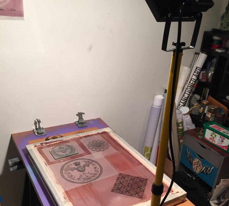 Homemade Silkscreen exposing screen