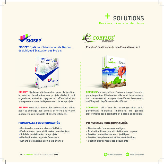 (Brochure 24 Pages (Cynapsys Profil