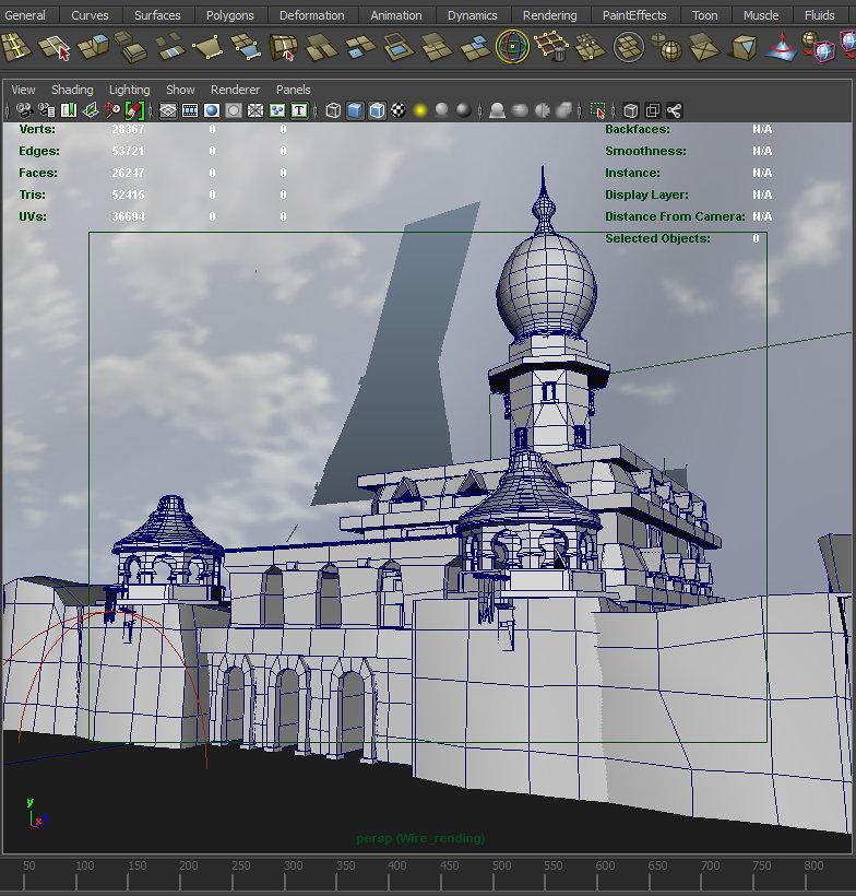 تصميمي قلعة للعبة فيديو  Low Poly