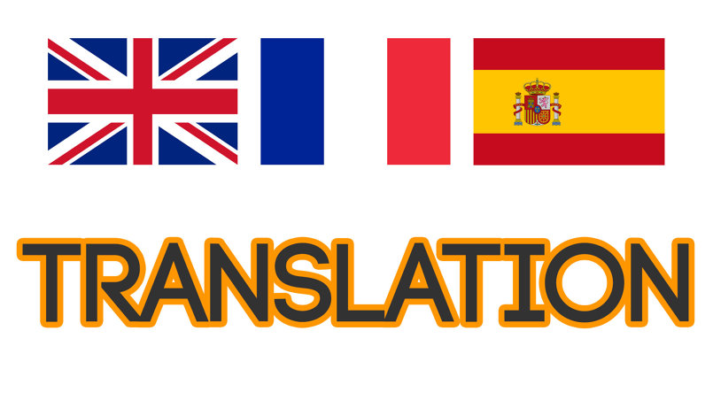 ترجمه النصوص والمقالات والابحاث english and spanish