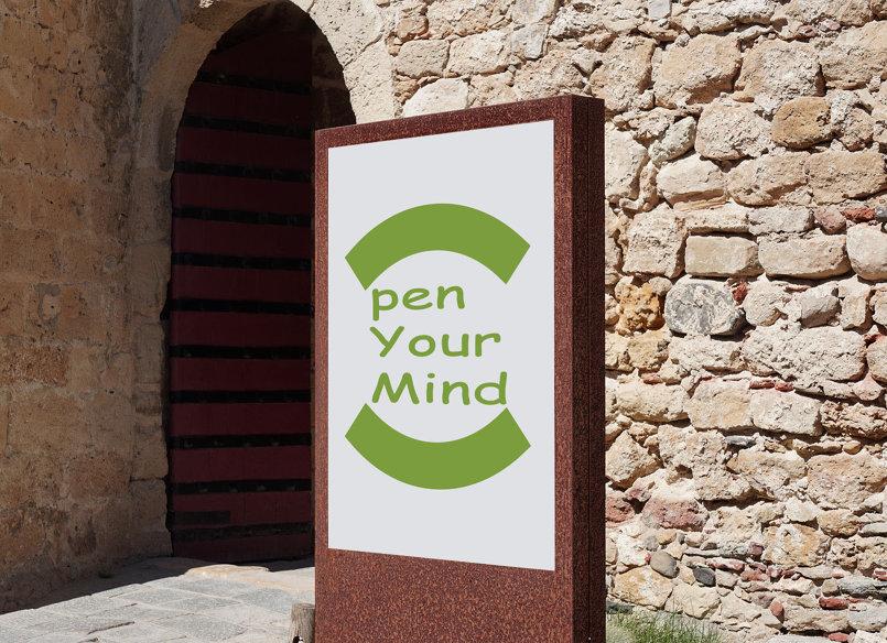تصميم لوجو وهوية بصرية - Open Your Mind