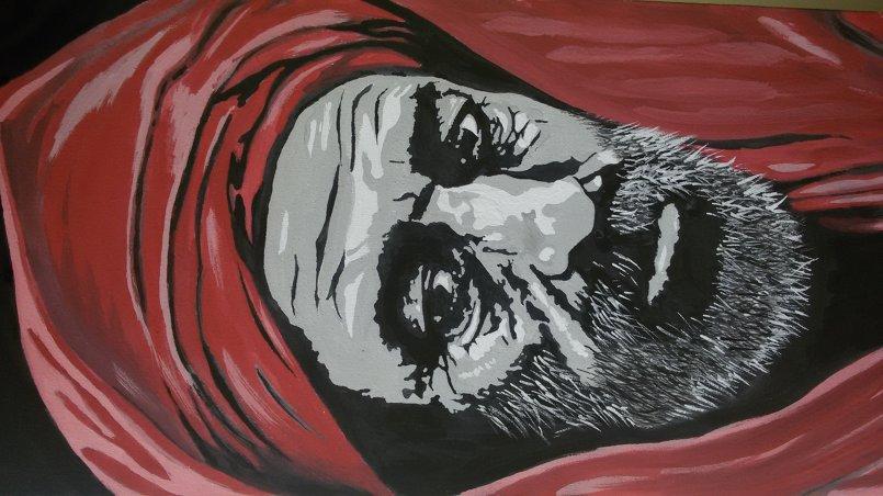 رسم بورتريهات او الوجوه على لوحات من القماش(تحت الطلب)