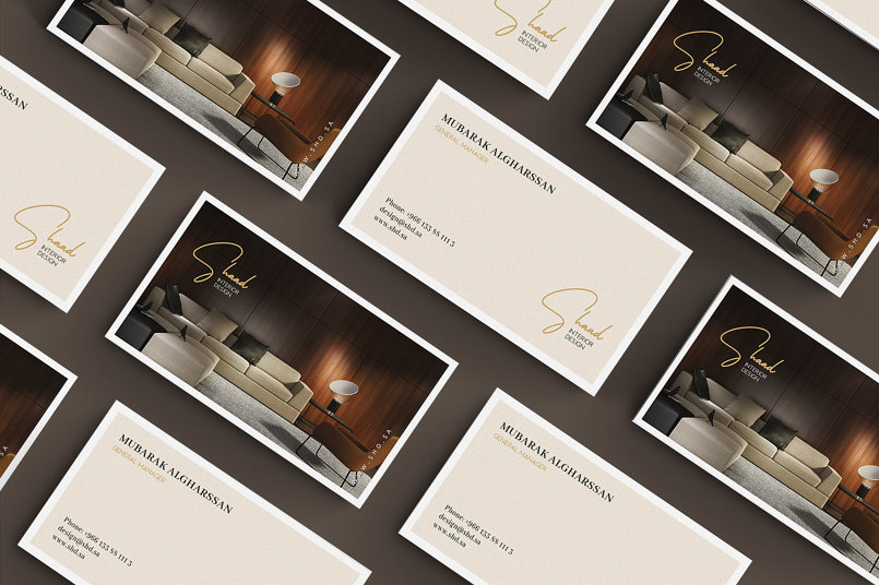 Brand identity design for SHAAD Interior Design (SA)