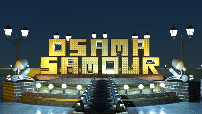 Osama Samour exterior park stage at night