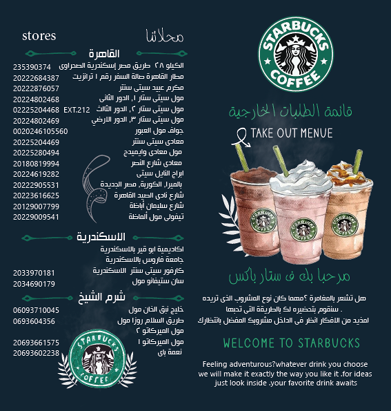 menu starbucks