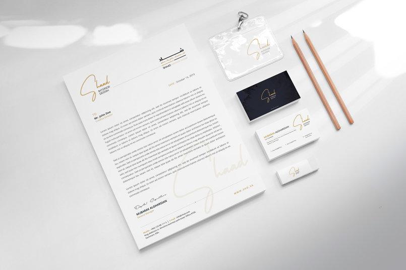Brand identity design for SHAAD Interior Design (SA)