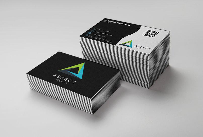 بطاقة عمل ل Aspect Media