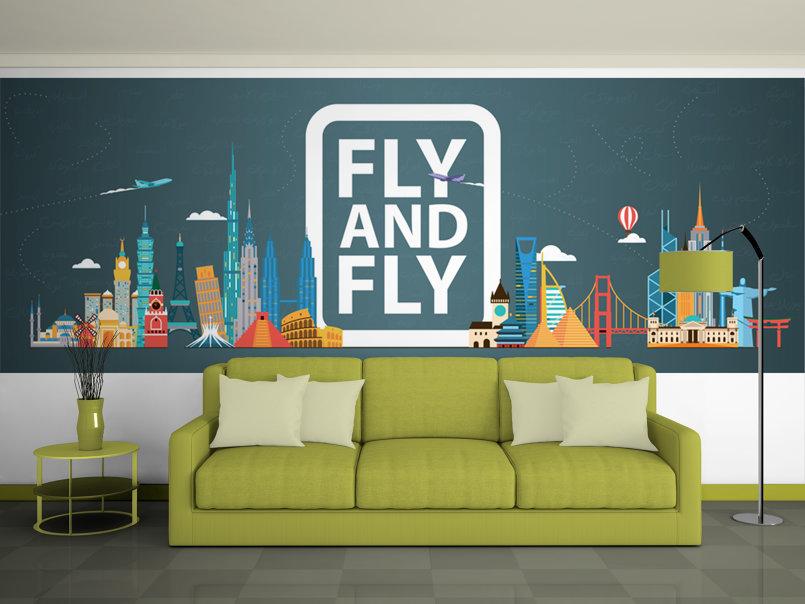 Wallpaper for travel agency by mohammed maher for Interior design agency vietnam