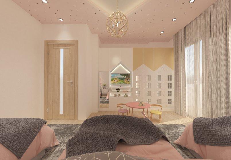 تصميم غرفه لثلاث اطفال