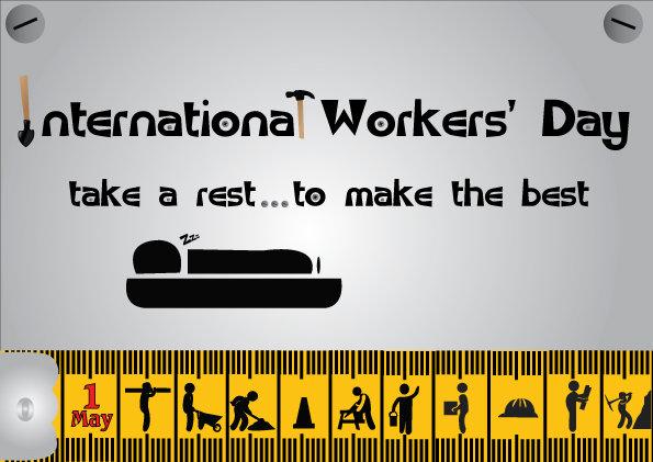 بطاقة تهنئة يوم العمال