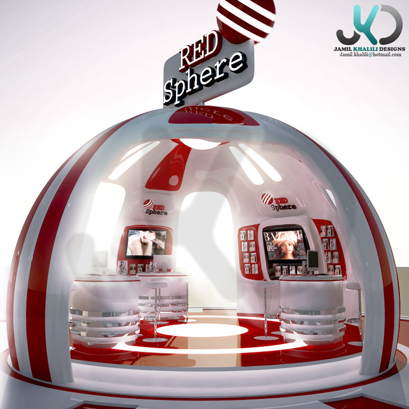 Red Sphere Exhibition booth - 3d Visualizer (freelancer) - UAE,Dubai.