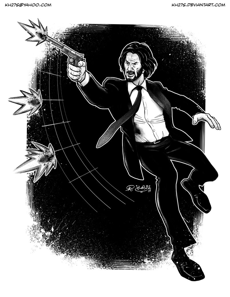 I recently watched John Wick: Chapter 3 and, needless to say, had to draw this.