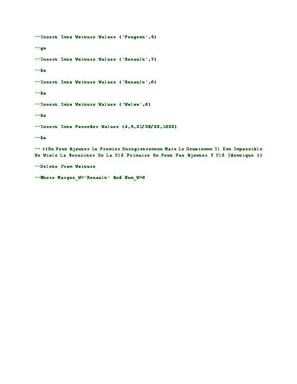 Basic Database Administration
