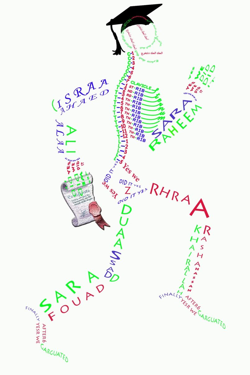 The names of the medical student in the form of a skeleton(2)